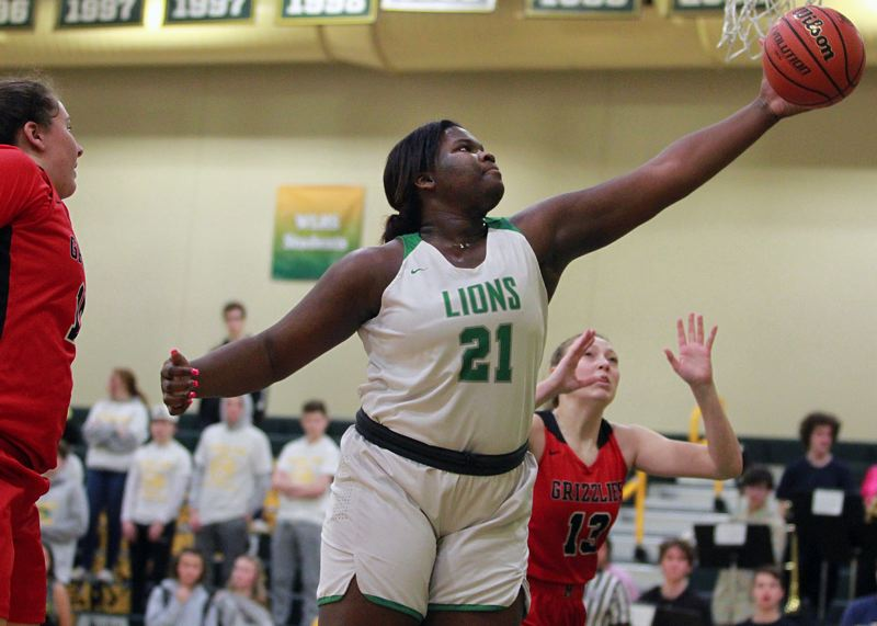 PMG PHOTO: MILES VANCE - West Linn junior post Aaronette Vonleh was named Three Rivers League Player of the Year for 2019-20 after averaging 17 points and eight rebounds per game this season.