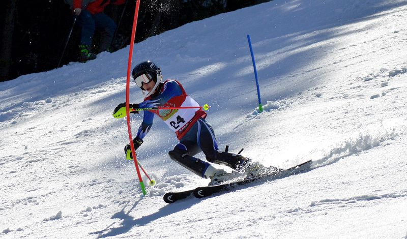 COURTESY PHOTO - West Linn's Brian Wicklund races during the state slalom competition on Mt. Ashland on Thursday, March 5.