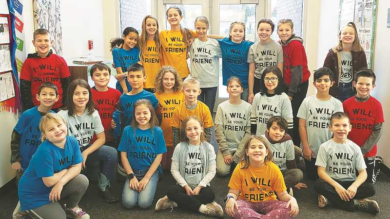 SUBMITTED PHOTO - Students at Mabel Rush Elementary School are among the youths in Newberg enrolled in the K-Kids program that teaches volunteerism and caring for others.