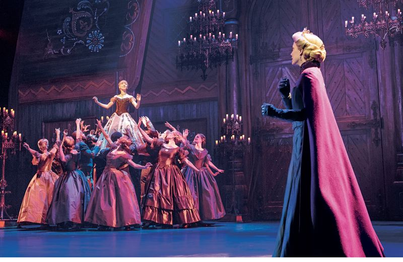 COURTESY PHOTO: DEEN VAN MEER - Caroline Innerbichler (right) stars as Anna and Caroline Bowman (right) as Elsa in 'Frozen,' which had a short run in Portland before the health crisis halted the shows.