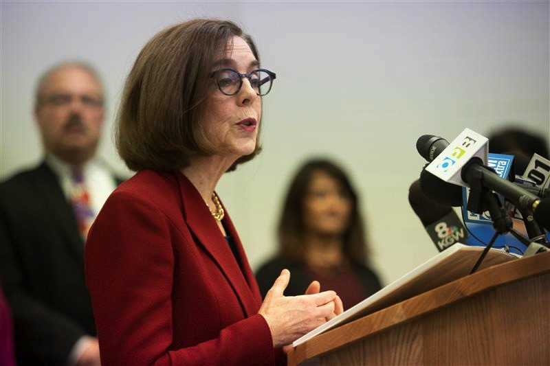 PMG PHOTO: JONATHAN HOUSE - Gov. Kate Brown said Oregon needs additional supplies of personal protective equipment for health care workers, as well as federal aid to help cover incoming unemployment claims.