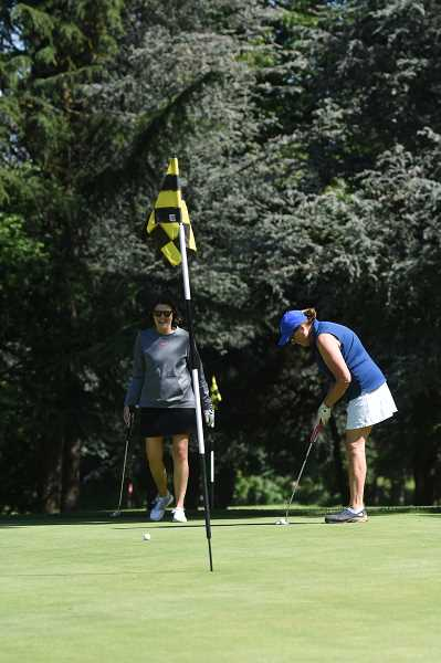 COURTESY PHOTO  - Women golfers wanting to improve their game can sign up for a golf clinic at Lake Oswego Public Golf Course.