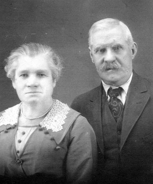 PHOTO COURTESY OF BOWMAN MUSEUM - Martha and George Osborn homesteaded near Haystack Butte in 1880.