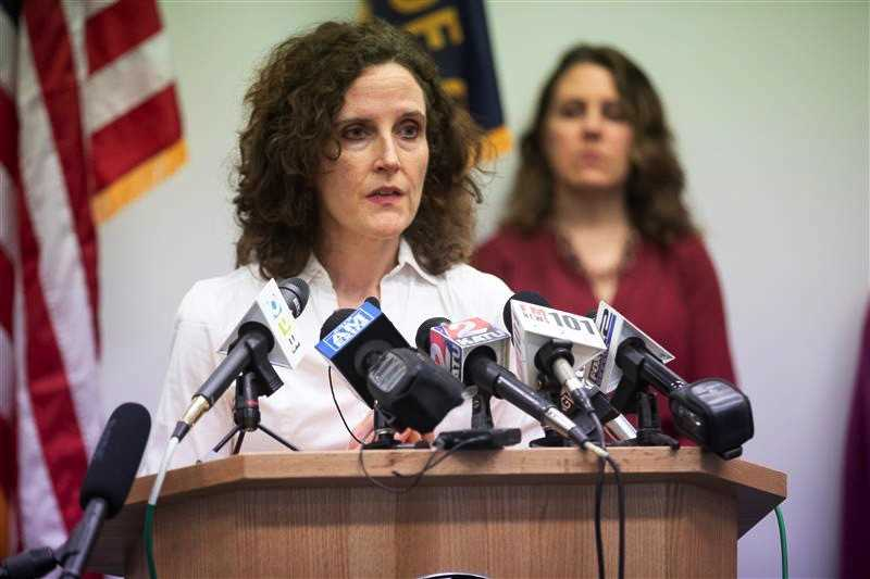 PMG PHOTO: JONATHAN HOUSE - Dr. Jennifer Vines, Tri-County Health Officer, talks about social distancing and a ban on mass gatherings during a Thursday, March 12, press conference on the COVID-19 outbreak. , Portland Tribune - News Oregon Gov. Kate Brown calls on the federal government to help the state increase its capacity for virus testing. Oregon officials defend ban on gatherings to fight 'unprecedented' public health crisis