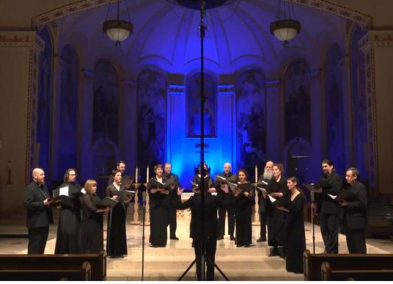 COURTESY PHOTO - Cappella Romana was one of the first arts organizations to live-stream a performance last weekend. Now, many more are going online to entertain and remain viable.