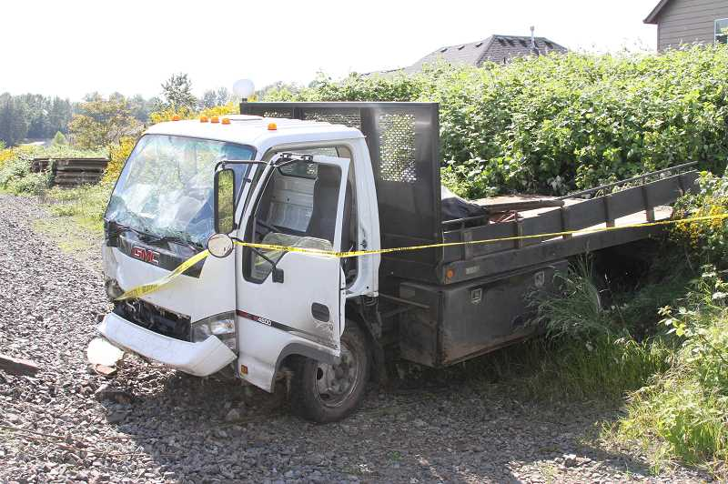 COURTESY PHOTO: TOM D'AMORE - Pictured is the truck that Gerald Cochran crashed in May 2017.