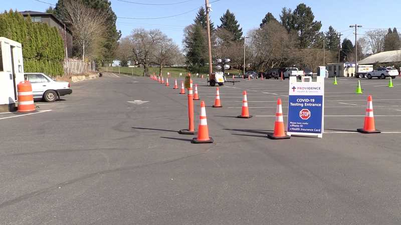 COURTESY PHOTO - Providence Health launched a pilot program for drive-through COVID-19 testing Friday, March 20. Testing is by appointment and doctor's order only.