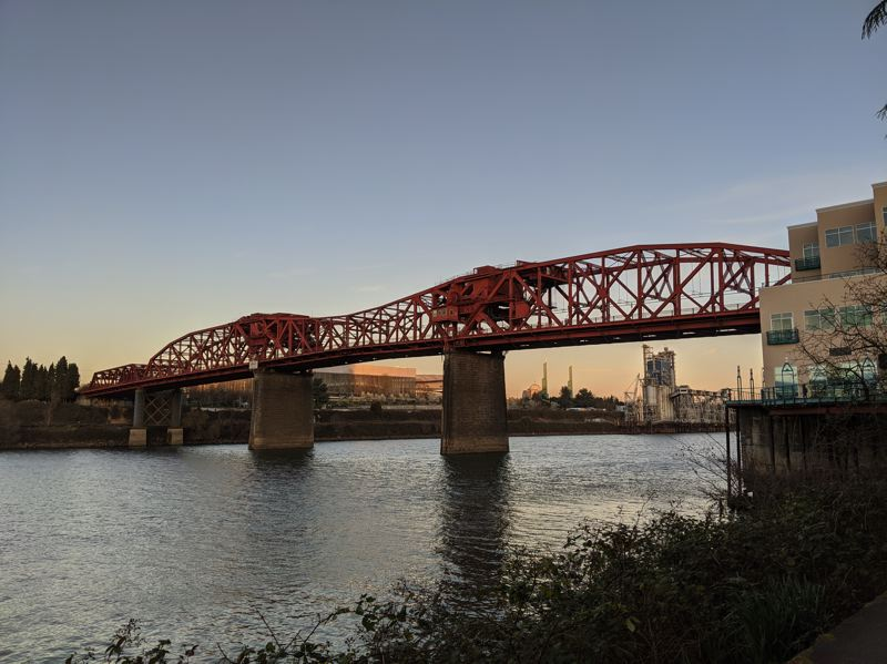 PAMPLIN MEDIA GROUP: JOSEPH GALLIVAN - The Broadway Bridge from the Willamette River Greenway Trail.