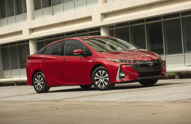 TOYOTA MOTOR NORTH AMERICA - The 2020 Prius Prime is a sporty-looking compact sedan that bridges the gap between fossil fuel and all-eelctric vehilces with a plug-in hybrid drivetrain.