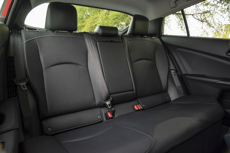 TOYOTA MOTOR NORTH AMERICA - The rear seats are large enough for two adults.