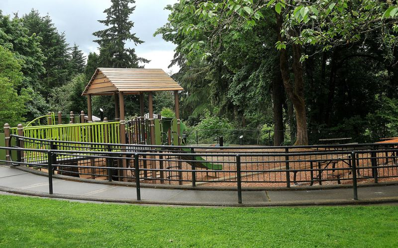 PMG FILE PHOTO - The George Rogers playground, along with other city park playgrounds are closed effective immediately.