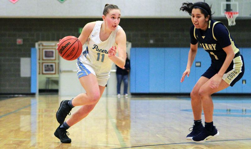 PMG PHOTO: MILES VANCE - Lakeridge senior guard Abbi Fedrizzi was named to the all-Three Rivers League second team this year after leading the Pacers into the Class 6A state playoffs for a second straight season.
