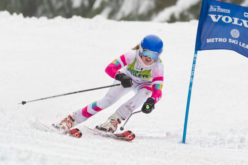 COURTESY PHOTO: MIKE JULIANA - Tigard High School senior Sarah Gentry was the Metro League girls skiing champion for the 2020 season. She also helped the Tigers win the league team title.