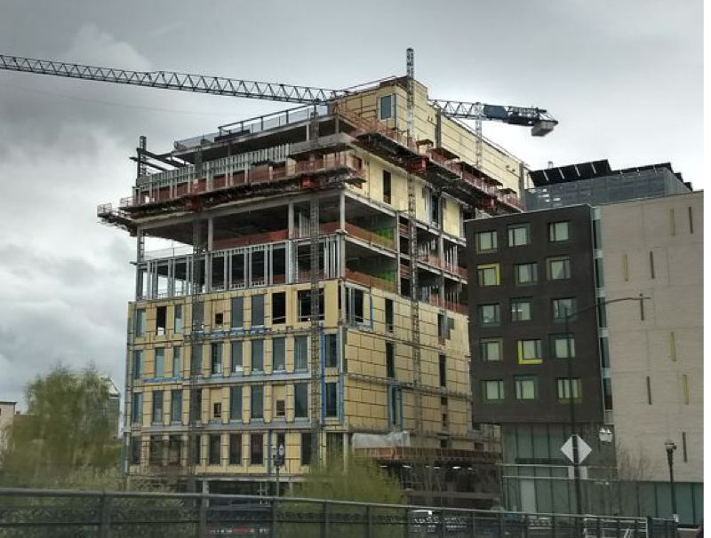 FILE PHOTO - A nine-story building was built by Multnomah County in Portland in 2018.