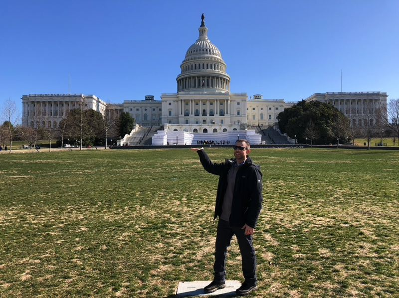 COURTESY PHOTO - During Lt. Clayton Simon's time at the FBI Academy in Virginia, he got to explore and travel to nearby cities.