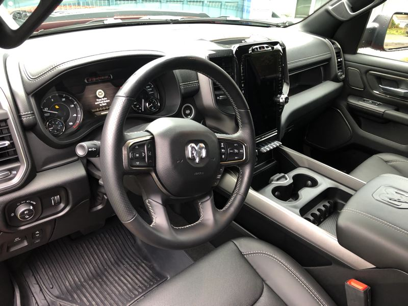 PMG PHOTO: JEFF ZURSCHMEIDE - The interior of the 2020 Ram Rebel is roomy, comfortable, practical and can be ordered at luxury levels.