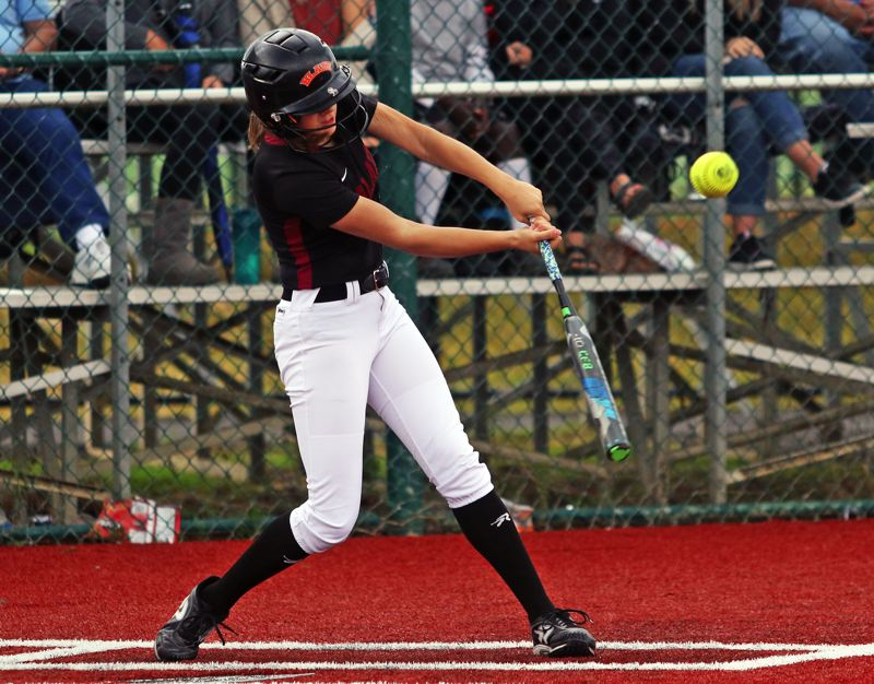 PMG FILE PHOTO: DAN BROOD - Tualatin High School senior Sydney Wagner, a first-team All-Three Rivers League selection a year ago, should be back in the outfield for the Timberwolves this year.