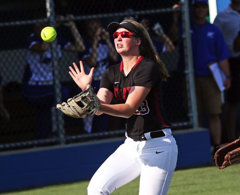 PMG FILE PHOTO: DAN BROOD - Tualatin High School sophomore Ella Hoyle should be back at third base for the Timberwolves in the 2020 season.