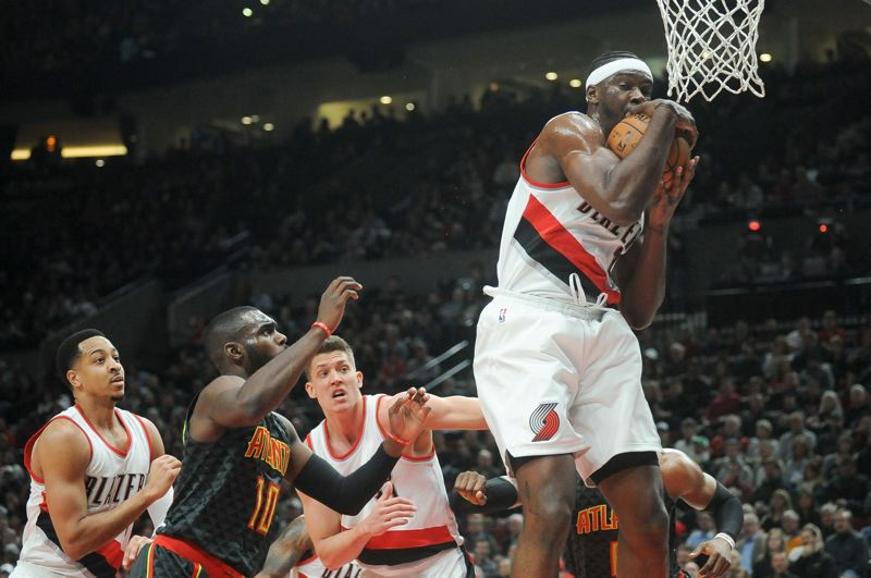 PMG FILE PHOTO - Noah Vonleh grabs a rebound for the Trail Blazers.