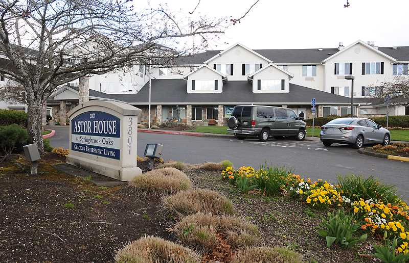 GRAPHIC PHOTO: GARY ALLEN - Astor House at Springbrook Oaks, a Newberg retirement community, has several residents that have tested positive for COVID-19, the virus that causes coronavirus.