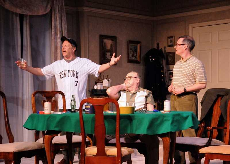 From left are Don Adler (Oscar), Danny Bruno (Speed) and Mark Schwahn (Vinnie) in Lakewood Theatre Companys production of The Odd Couple.