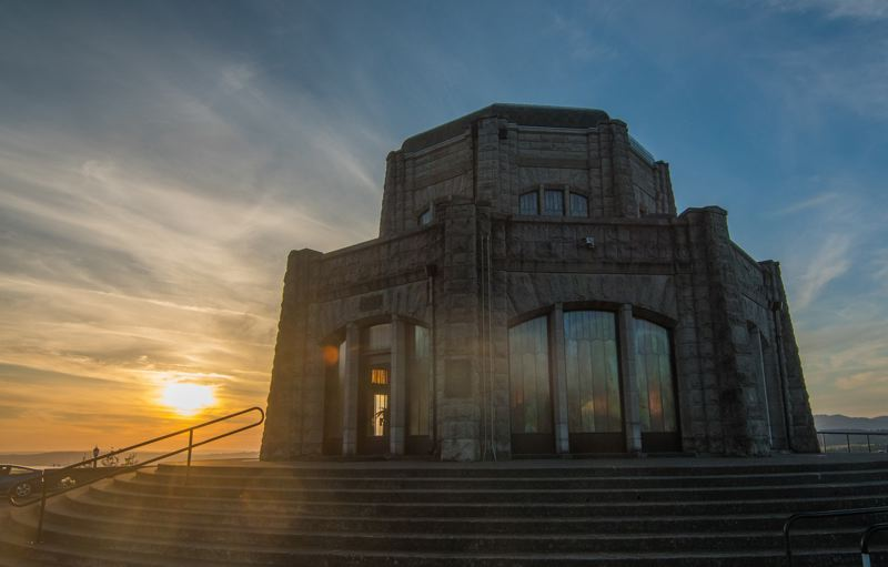 PMG FILE PHOTO - People are being asked to stop visiting popular destinations, like the Vista House at Crown Point in the Columbia River Gorge, or the beach, until the pandemic has passed.