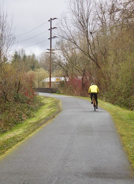 PMG PHOTO: CHRISTOPHER KEIZUR - Many joggers and cyclists have been recreating along the Springwater Corridor Trail.