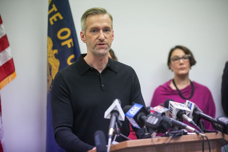 PMG FILE PHOTO - Portland Mayor Ted Wheeler gives an update at the COVID-19 press conference.