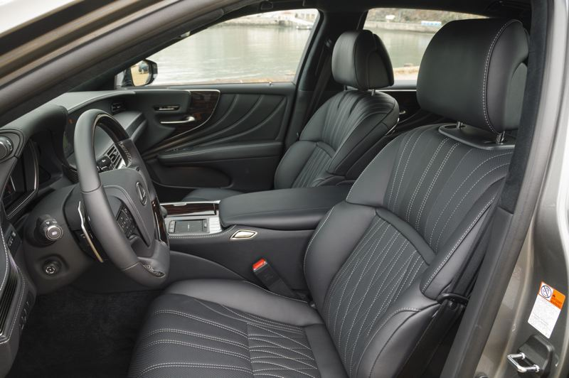 TOYOTA MOTOR CORPORATION - The deeply padded front bucket seats in the 2020 Lexus LS 500 are both comfortable and supportive.