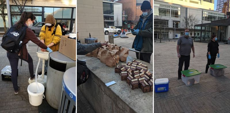 COVID cuts Free Hot Soup meals to once per week at Portland's Director Park