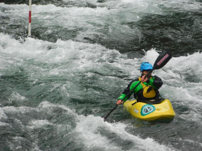 PMG FILE PHOTO - A kayaker navigates through the rapids of the Clackamas River.