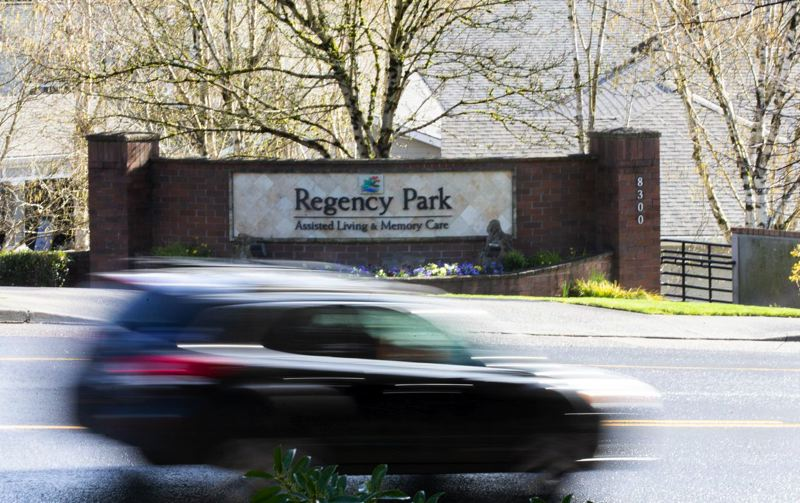 COURTESY PHOTO: DAVE KILLEN/THE OREGONIAN - Regency Park Assisted Living and Memory Care on March 23. Three residents and two employees of the facility have tested positive for COVID-19.