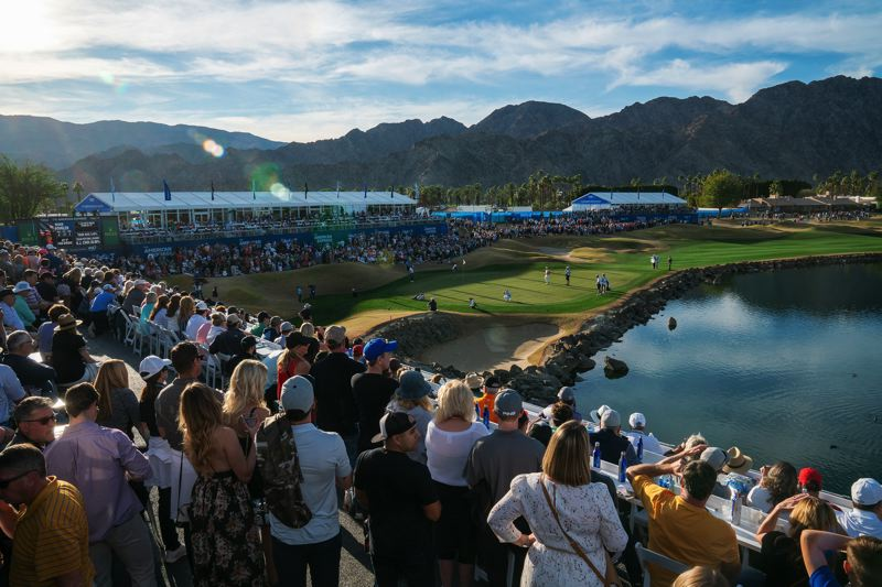 COURTESY PHOTO: LAGARDERE SPORTS - The 18th hole is a scenic and popular place at the Safeway Open in Napa Valley, California.