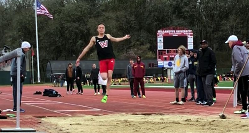 COURTESY PHOTO JAKE FLURY - Like so many other athletes across the country, Lakeridge High School graduate Jake Flury saw his college season at Western Oregon University interrupted and then canceled due to COVID-19.