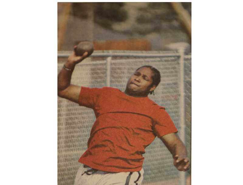 FILE PHOTO - The Madras track and field program hosted its first track meet for the first time in eight years.  Zephaniah Phillips won the discus.