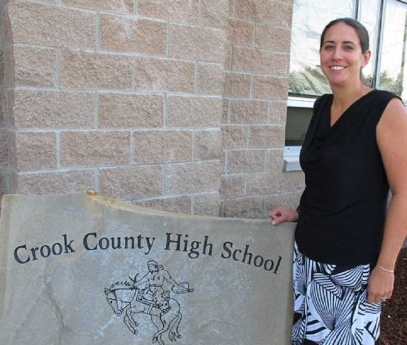 PHOTO COURTESY OF CROOK COUNTY SCHOOL DISTRICT  - Michelle Jonas pauses for a photo in front of CCHS. FFA held a virtual convention on Thursday, March 20, and the awards were announced live on Facebook.