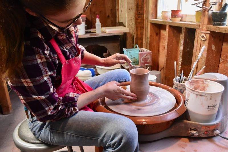 PMG PHOTO: BRITTANY ALLEN - Marshall appreciates the 'fluidity and impermanence' of clay.