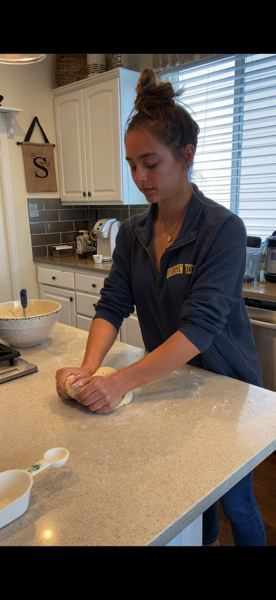 COURTESY PHOTO: KACIE SCHMIDT  - Mountainside senior Kacie Schmidt has TikTok videos of all kinds but her favorites come in the kitchen.