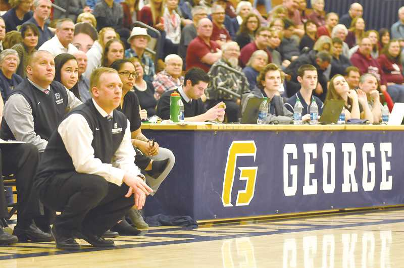 GRAPHIC FILE PHOTO - Michael Meek amassed a 230-35 record in nine seasons at George Fox University before signing on to coach the Pilots in 2019.