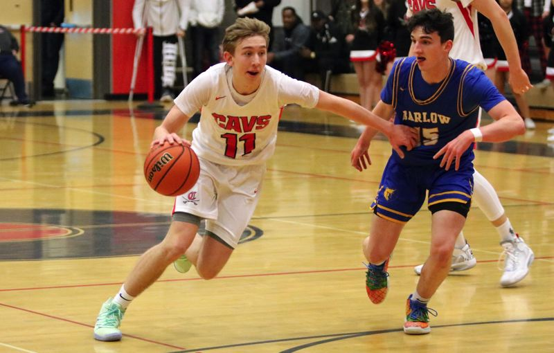 PMG PHOTO: JIM BESEDA - Clackamas junior guard Damon Erickson earned all-league, second-team honors after helping lead the Cavaliers to a 12-2 record in league play and a berth in the OSAA 6A playoffs.