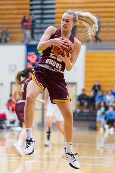 PMG PHOTO: CHRISTOPHER OERTELL - Forest Grove's Amanda Rebsom during a game this past season. Rebsom was a first team All-Pacific Conference selection and the Co-Defensive Player of the Year.
