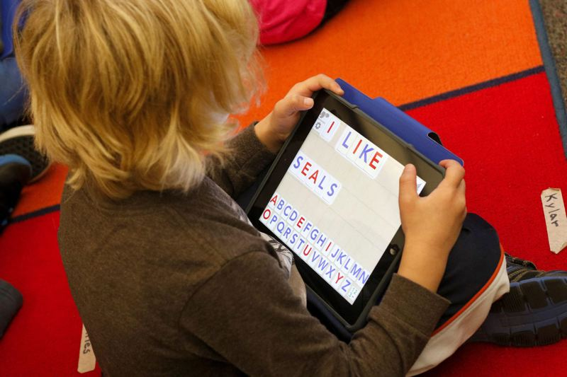 PMG FILE PHOTO - In 2015, Charles F. Tigard Elementary School went fully digital, with an iPad for every student.