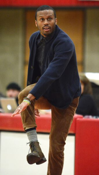 PMG PHOTO: DAVID BALL - Mt. Hood CC mens basketball coach Nate Bowie has placed more than 25 players into four-year programs during his five seasons as a junior college coach.