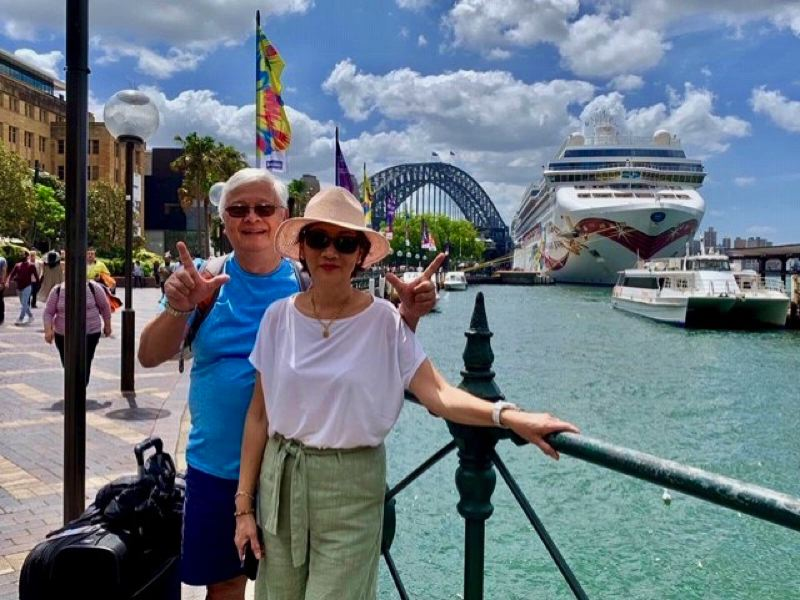 COURTESY PHOTO: BRIGITTE LUU - Gresham couple Brigitte and Huan Luu returned safely home after experiencing the beginning of the COVID-19 pandemic aboard a cruise ship.