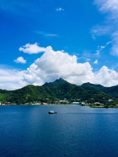 COURTESY PHOTO: BRIGITTE LUU - The view from the cruise ship of Pago Pago, where passengers werent allowed to disembark due to fears of the novel coronavirus.
