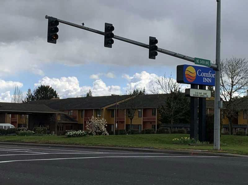 PMG PHOTO: GEOFFREY PURSINGER - The Comfort Inn on Cornell Road is being converted into a temporary homeless shelter to combat COVID-19, the city of Hillsboro announced on Thursday.