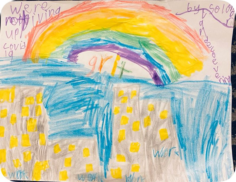 COURTESY PHOTO: DR. CHRIS CIRINO - Children across the community are invited to join in a fun art contest to share how they are feeling during the COVID-19 crisis.