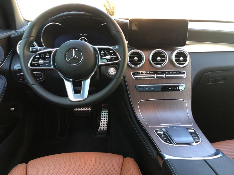 PMG PHOTO: JEFF ZURSCHMEIDE - Another good reason to consider the GLC, or any modern Mercedes, is the Mercedes-Benz User Experience (MBUX) system that comes standard along with other advanced technologies.