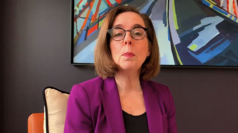 SCREENSHOT - Gov. Kate Brown announced a new plan to help small businesses hurt by the novel coronavirus on Thursday, April 2.