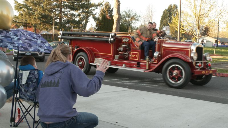 COURTESY PHOTO: GRESHAM FIRE - Gresham Fire & Emergency Services joined a parade in honor of cancer-survivor Jaxson.